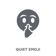 Quiet Emoji Icon From Emoji Collection.