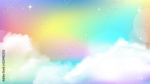 Photo  Unicorn Sky Colorful Gradient