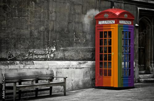Fotografie, Obraz  Gay pride, phone booth in London