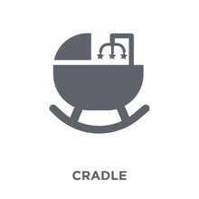 Cradle Icon From Furniture And...