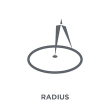 Radius Icon From Geometry Collection.