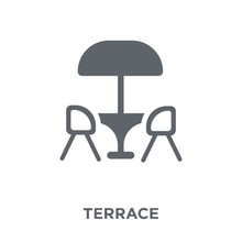 Terrace Icon From Restaurant C...