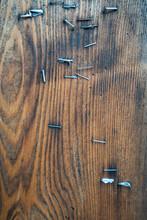 Staples Texture On Wood