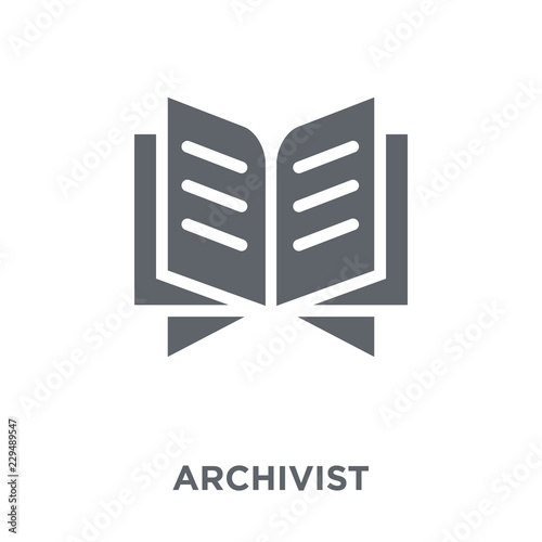 Archivist icon from Museum collection. Wallpaper Mural