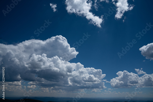 Foto op Canvas Luchtsport blue sky and clouds