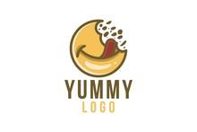 Delicious Food, Yummy Logo Des...