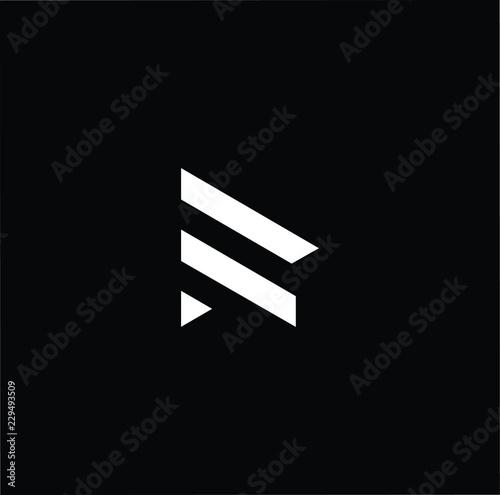Photo  letter R RR minimalist art monogram arrow shape logo, white color on black backg