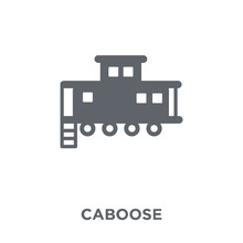 Caboose Icon From Transportation Collection.