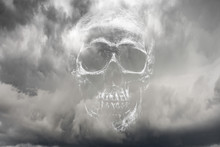 Skull / Atmosphere Scary On Sky Background
