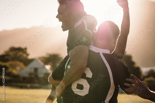 Photo  Rugby champions celebrating victory