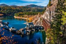 Box Canyon Dam On The Pend Oreille River Near Ione, Washington.