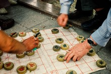 Local People Playing Chinese C...