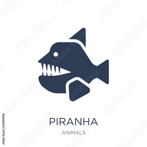 Piranha icon Canvas-taulu