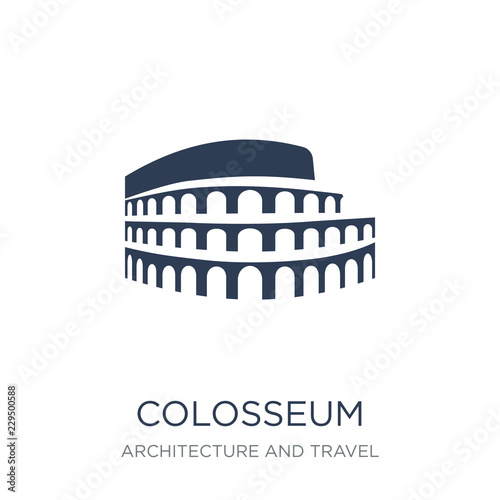 Colosseum icon. Trendy flat vector Colosseum icon on white background from Architecture and Travel collection Fototapete