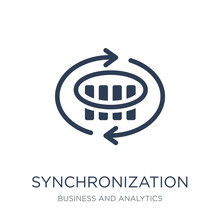 Synchronization Icon. Trendy Flat Vector Synchronization Icon On White Background From Business And Analytics Collection