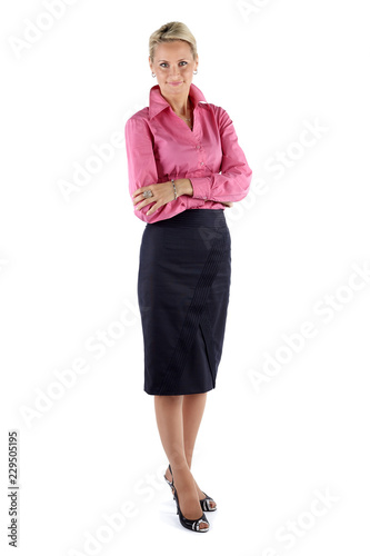 Fotografie, Obraz  Mature Business woman isolated on white background