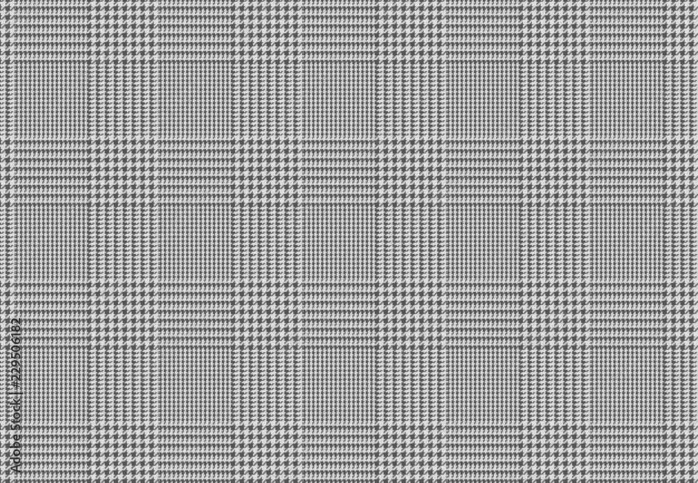 Photo  Motif Tissu Lainage Pied de Poule gris