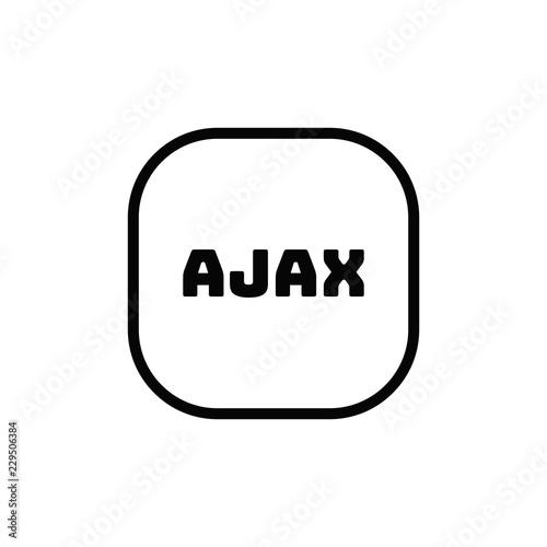 Ajax vector icon Wallpaper Mural