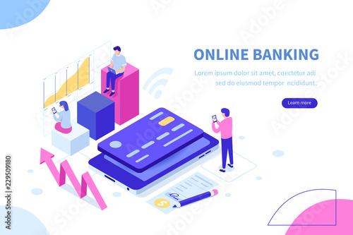 online banking Tableau sur Toile