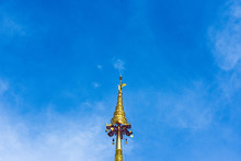 Golden Pagoda And Sky