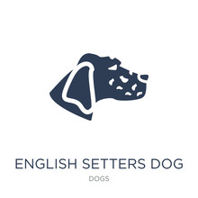 English Setters Dog Icon. Tren...