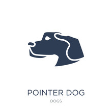 Pointer Dog Icon. Trendy Flat Vector Pointer Dog Icon On White Background From Dogs Collection