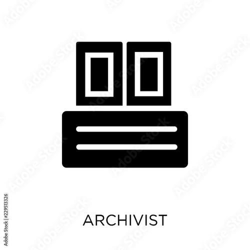 Archivist icon. Archivist symbol design from Museum collection. Wallpaper Mural