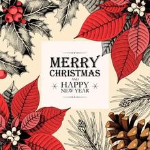 Vector Christmas Card With Hol...