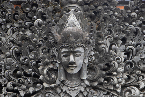 Foto op Aluminium Bali Indonesia god statue in front of bali temple.Traditional indonesian hindu symbol in ubud,Bali,Indonesia