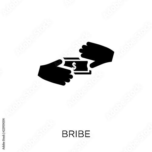 Fotografía  Bribe icon. Bribe symbol design from Political collection.