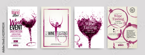 Fotografia Collection of templates with wine designs
