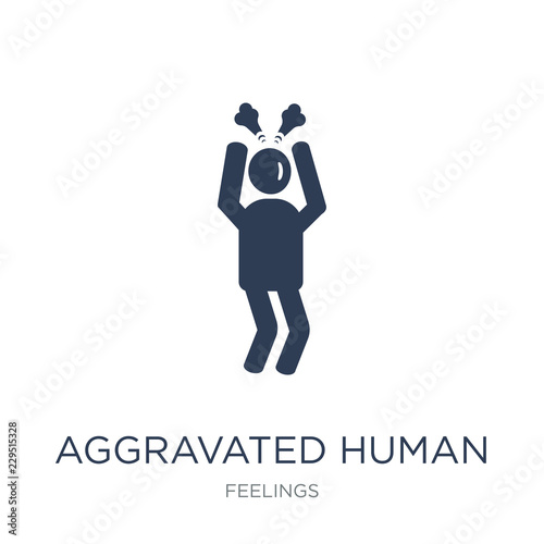 aggravated human icon Canvas Print