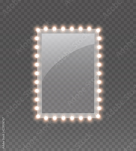 Photo  Light rectangle banner isolated on transparent background