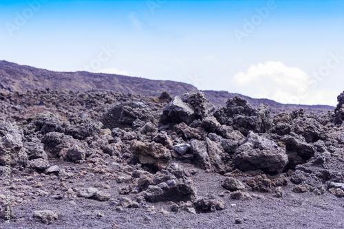 Tuinposter Lavendel Lava on Mount Etna, active volcano on the east coast of Sicily, Italy