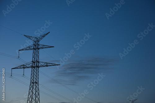 Fotografía  electricité environnement energie ciel nuit soir