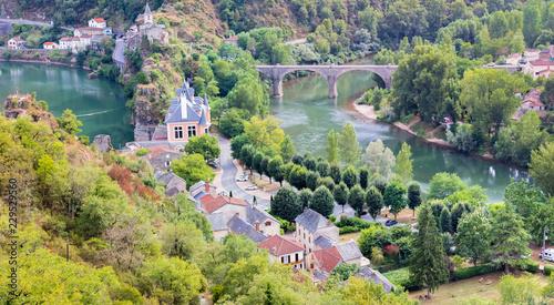 vue générale du village d'Ambiante, Tarn, Occitanie, France Wallpaper Mural