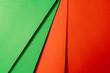 canvas print picture - Papier Hintergrund Abstrakt Rot Grün Kontrast Textur