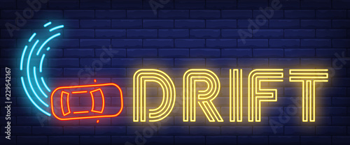 Drift neon sign Poster Mural XXL