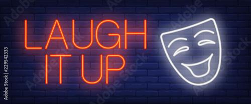Fotografie, Obraz  Laugh it up neon sign