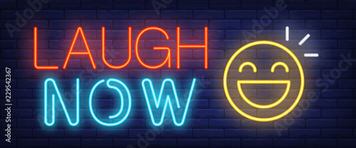 Laugh now neon sign Canvas