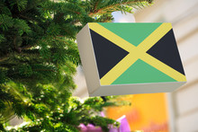 Jamaica Flag Printed On A Chri...