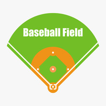 Baseball Field, Vector Illustration, EPS 10.