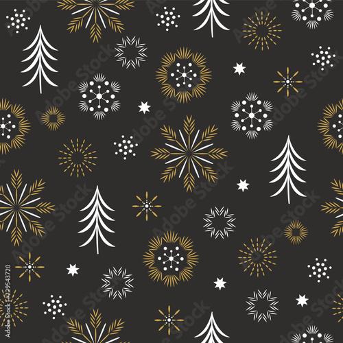 Staande foto Kunstmatig seamless pattern, seasons greetings,beautifil christmas background
