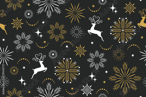 Foto op Canvas Kunstmatig seamless pattern, seasons greetings,beautifil christmas background