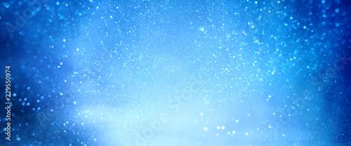 Blue luminous winter background