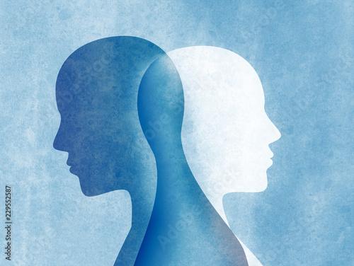 Bipolar disorder mind mental Fototapet