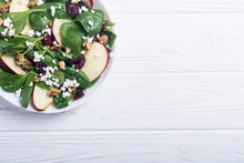 Autumn Spinach Salad With Appl...