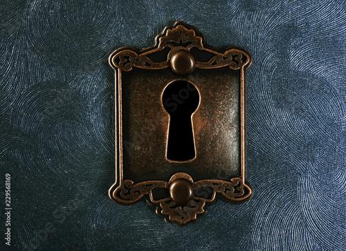 Vintage lock closeup Tableau sur Toile