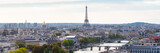 Fototapeta Fototapety Paryż - Paris, panorama of the Eiffel tower, with the Seine and bridges, and the most famous monuments