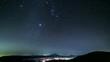 国師ヶ岳山頂から富士山と冬の星空Timelapse